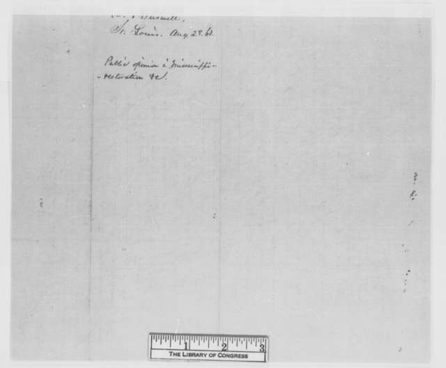 A. Burwell to Abraham Lincoln, Friday, August 28, 1863  (Public sentiment in Mississippi)