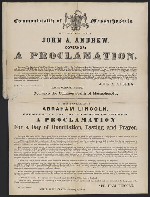 A Proclamation, for a day of national humiliation, fasting and prayer!