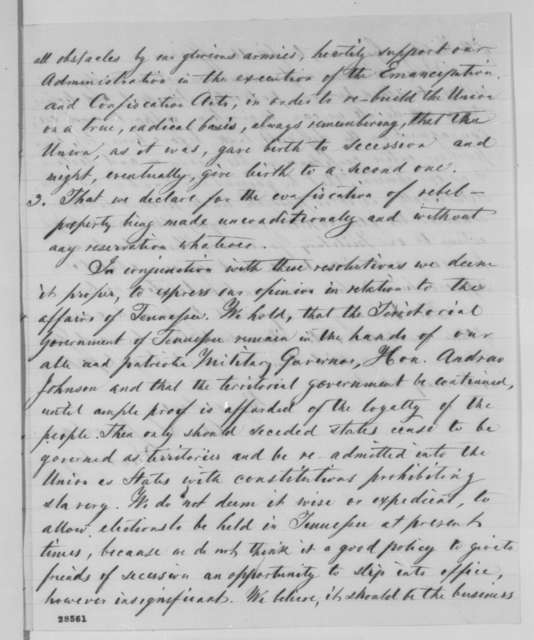 A. S. Jourdan, Tuesday, December 08, 1863  (Resolutions of the National Union League at Nashville)