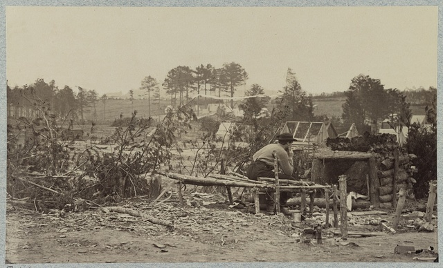 Abandoned camp of 9th Army Corps near Falmouth, Va., February, 1863
