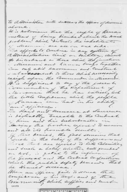 Abel C. Wilder and James H. Lane to Abraham Lincoln, [September 1863]  (Memorandum concerning military affairs in Kansas)