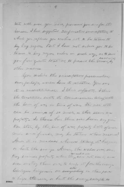 Abraham Lincoln, [1863]  (Draft Fragment used in August 26, 1863 letter to James C. Conkling)