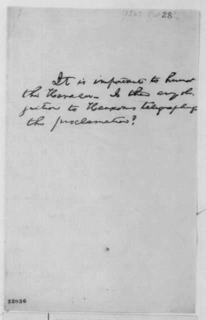 Abraham Lincoln, [January 1, 1863]  (Memorandum on New York Herlad)