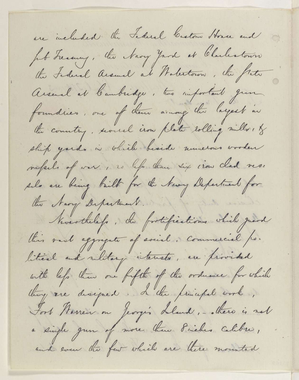 Abraham Lincoln papers: Series 1. General Correspondence. 1833-1916: John A. Andrew to Abraham Lincoln, Monday, April 27, 1863 (Requests ironclad to protect Boston harbor)