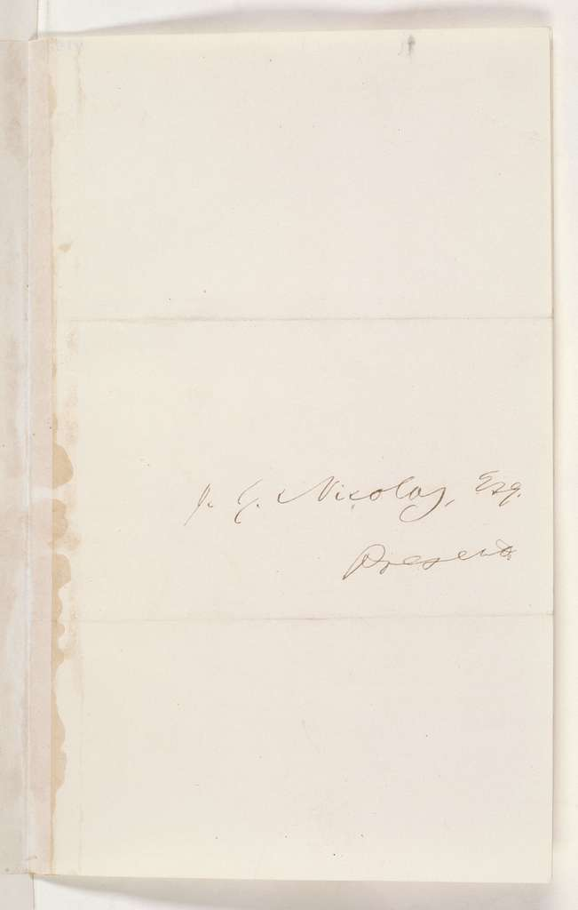 Abraham Lincoln papers: Series 2. General Correspondence. 1858-1864: Horace Greeley to John G. Nicolay, Monday, March 23, 1863 (Cover letter)