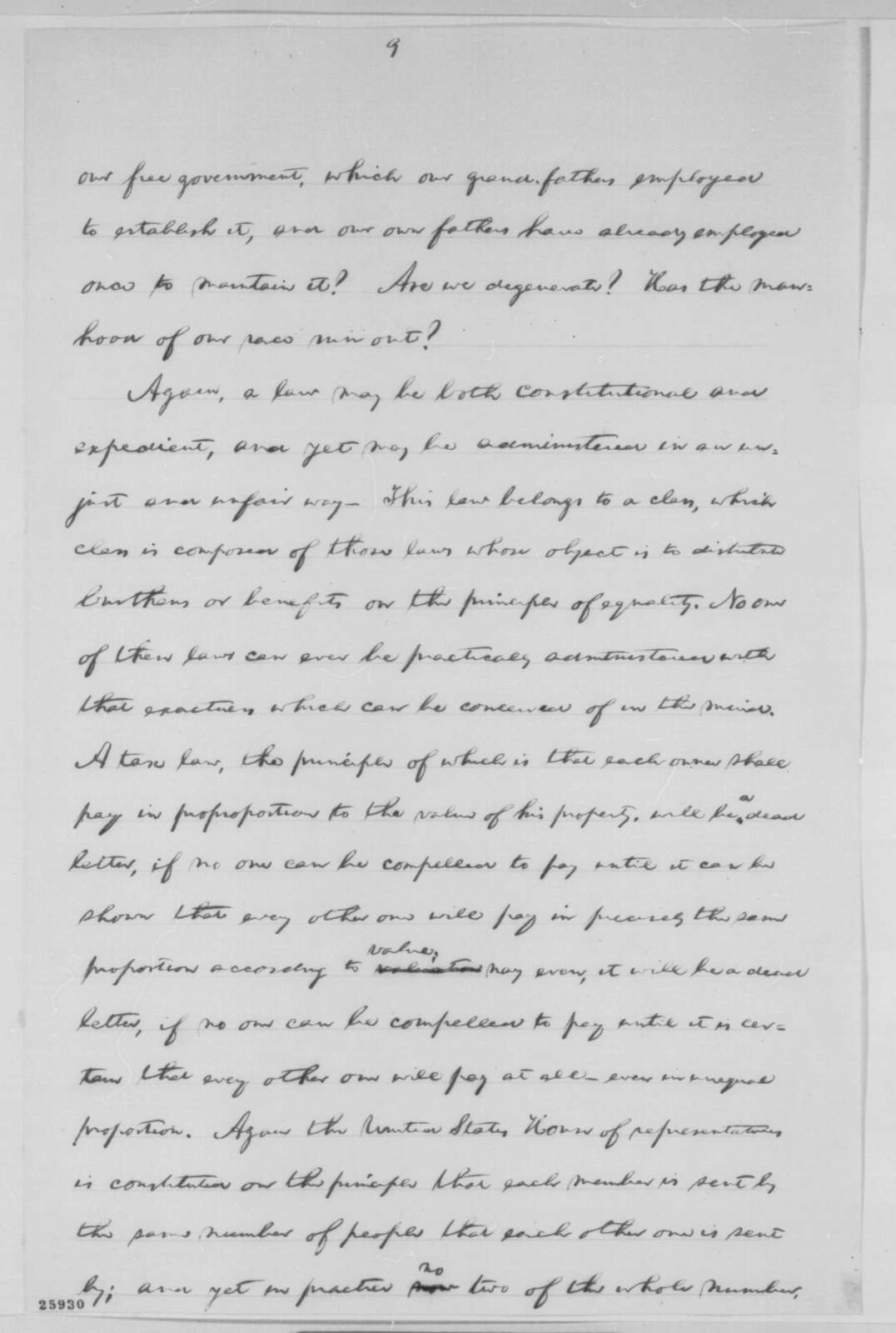 Abraham Lincoln, [September 14, 1863  (Opinion on the Draft; endorsed by Robert Todd Lincoln)