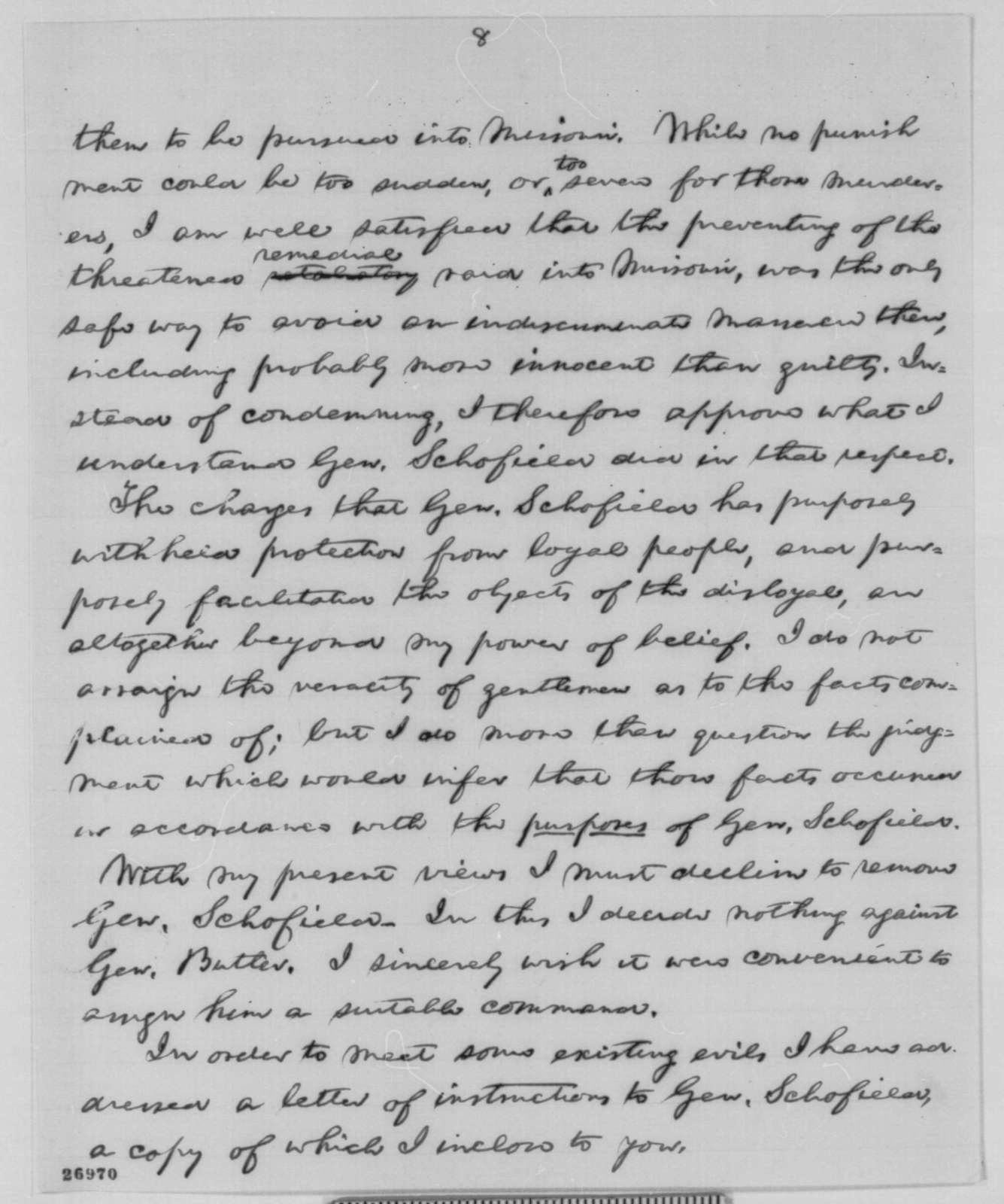 Abraham Lincoln to Charles D. Drake, et al., Monday, October 05, 1863  (Affairs in Missouri)