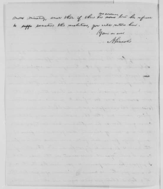 Abraham Lincoln to David Hunter, Thursday, April 30, 1863  (Dismissal of David Schaadt)