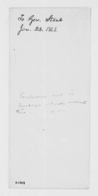 Abraham Lincoln to Frederick Steele, Thursday, January 22, 1863