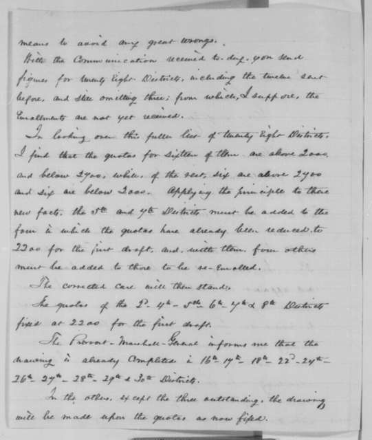 Abraham Lincoln to Horatio Seymour, Tuesday, August 11, 1863  (Conscription in New York (secretarial copy))