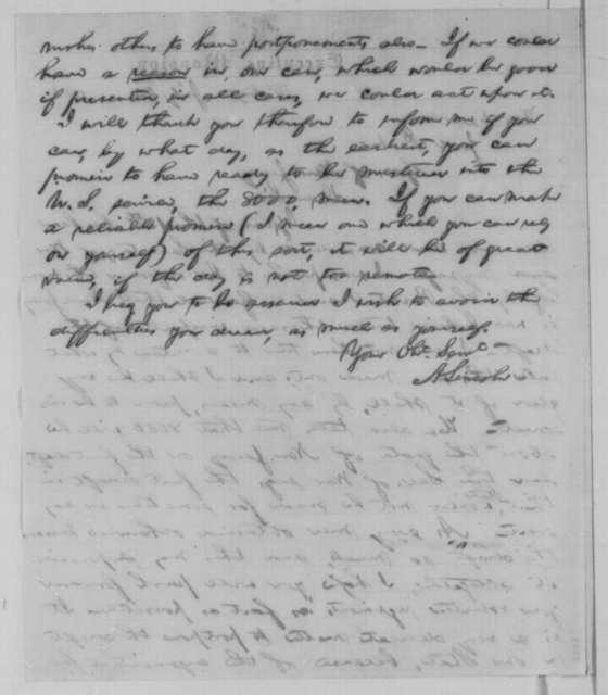 Abraham Lincoln to Joel Parker, Monday, July 20, 1863  (Draft in New Jersey)