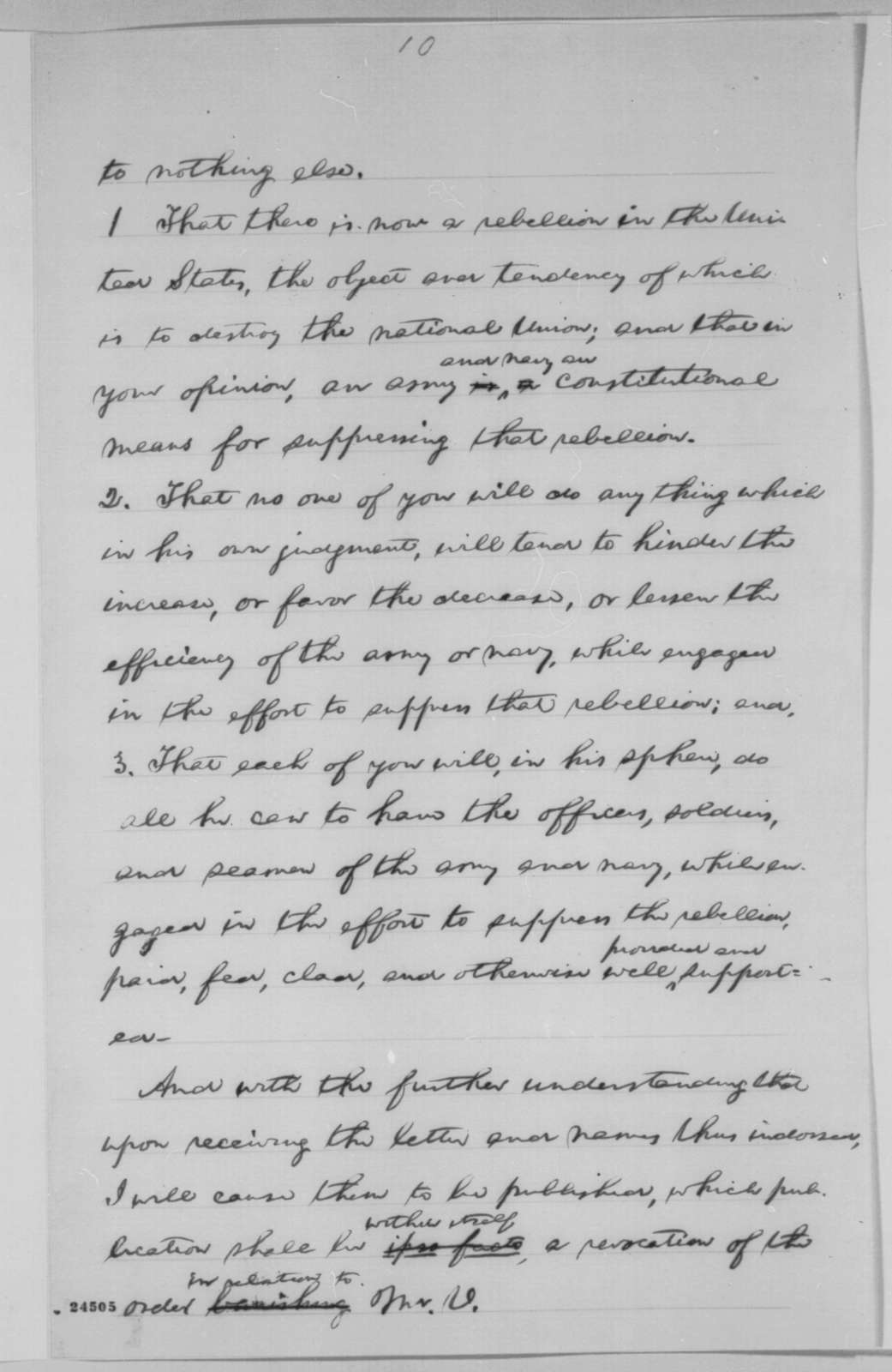 Abraham Lincoln to Matthew Birchard, et al., Monday, June 29, 1863  (Response to the resolutions of the Ohio Democratic Convention)