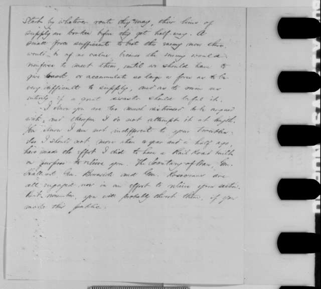 Abraham Lincoln to Robert Morrow and John M. Fleming, Sunday, August 09, 1863  (Conditions in East Tennessee)