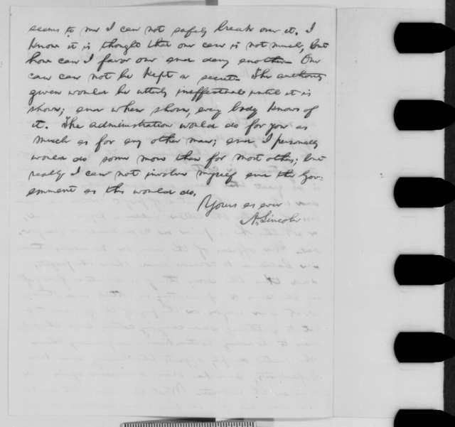 Abraham Lincoln to William Kellogg, Monday, June 29, 1863  (Cotton permit for Amos Babcock)