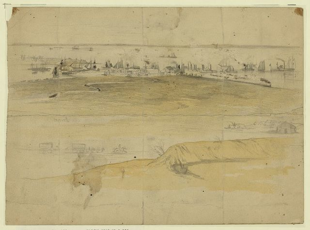 Acquia Creek landing. Depot of supplies for the Army of the Potomac