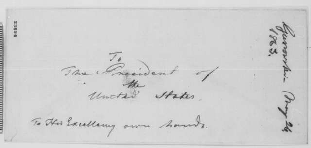 Adam Gurowski to Abraham Lincoln, Tuesday, May 26, 1863  (Military advice)