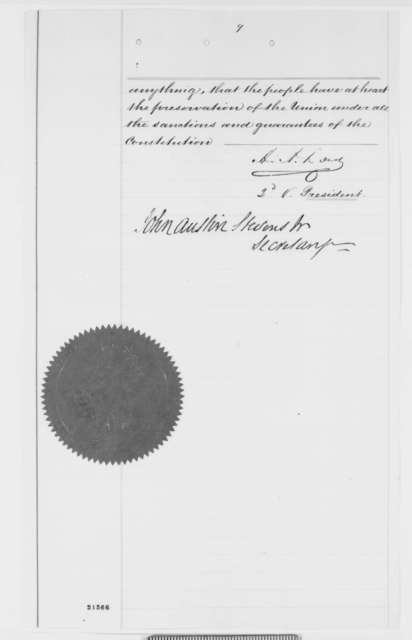 Adolph Von Steinwehr, Thursday, February 05, 1863  (Certifies that C.P. Buschmann has served with distinction)