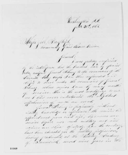 Adolph Von Steinwehr to Franz Sigel, Tuesday, January 20, 1863  (Complains about promotion of Carl Schurz)