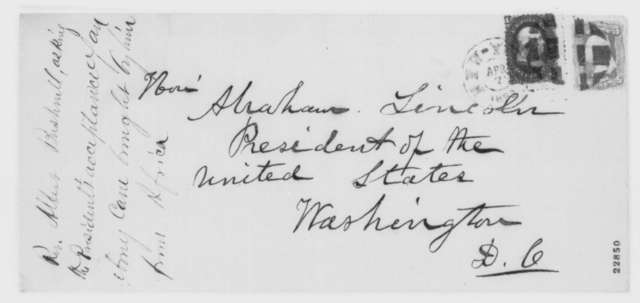 Albert Bushnell to Abraham Lincoln, Tuesday, April 07, 1863  (Sends cane)