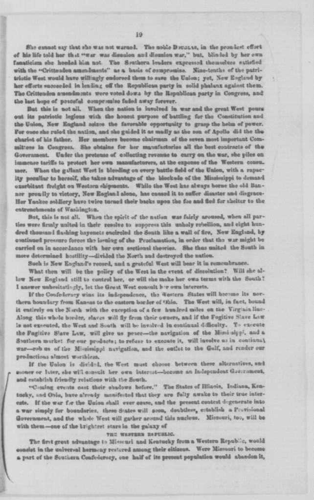 Alexander M. Woolfolk, Friday, February 20, 1863  (Pamphlet)