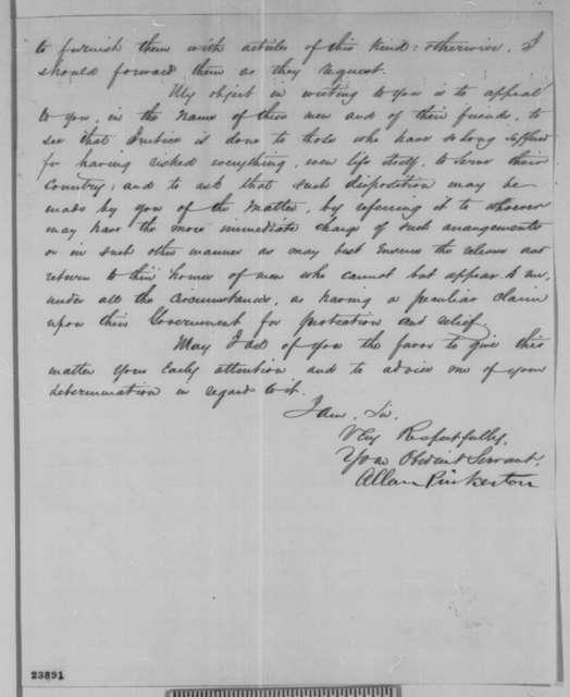 Allan Pinkerton to Abraham Lincoln, Friday, June 05, 1863  (Exchange of prisoners)