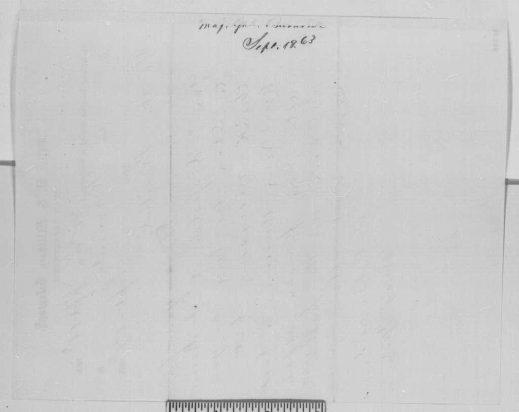 Ambrose E. Burnside to Abraham Lincoln, Thursday, September 17, 1863  (Telegram concerning Burnside's resignation)