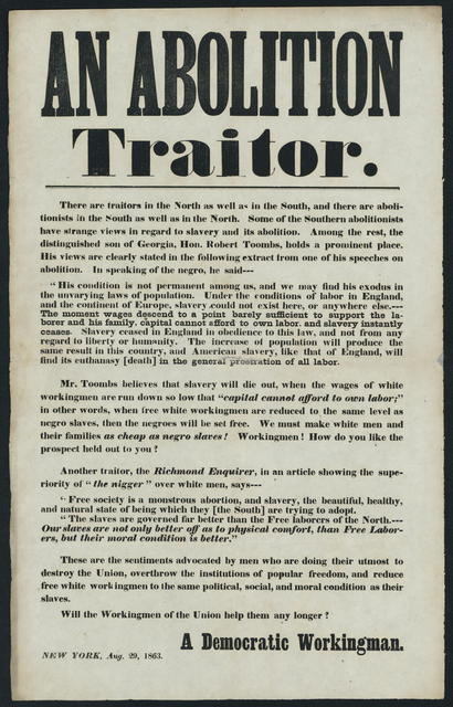 An Abolition traitor. There are traitors in the North as well as in the South.