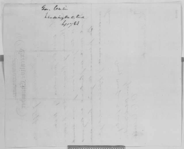 Andrew G. Curtin to Abraham Lincoln, Monday, September 07, 1863  (Introduction)