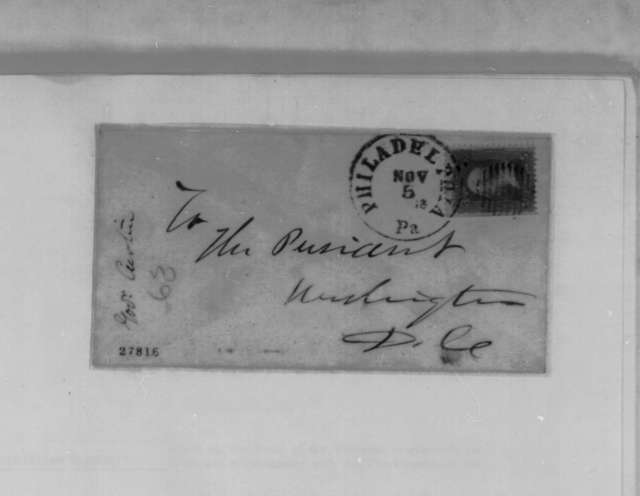 Andrew G. Curtin to Abraham Lincoln, Wednesday, November 04, 1863  (Pennsylvania appointments)