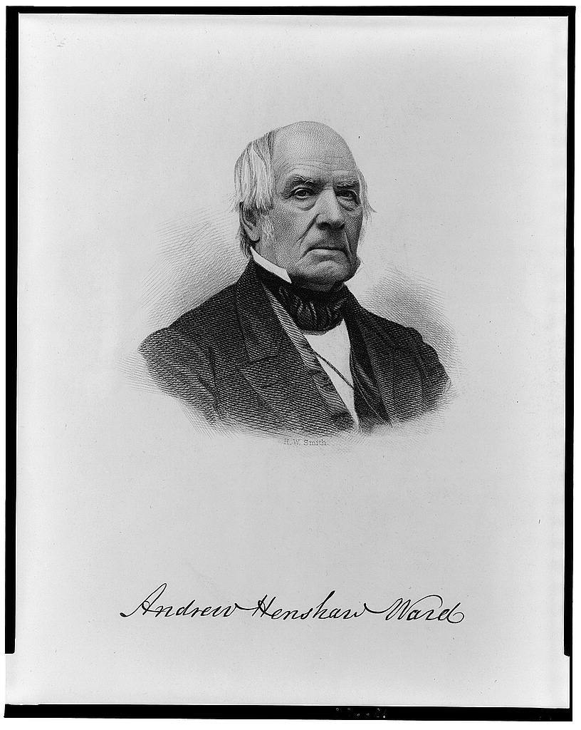 [Andrew Henshaw Ward, bust portrait, facing right] / H. W. Smith.