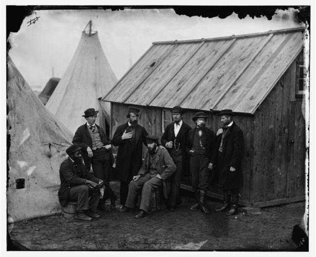 Aquia Creek Landing, Virginia. Group of Commissary clerks