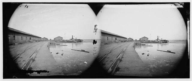 Aquia Creek Landing, Virginia. View of wharf