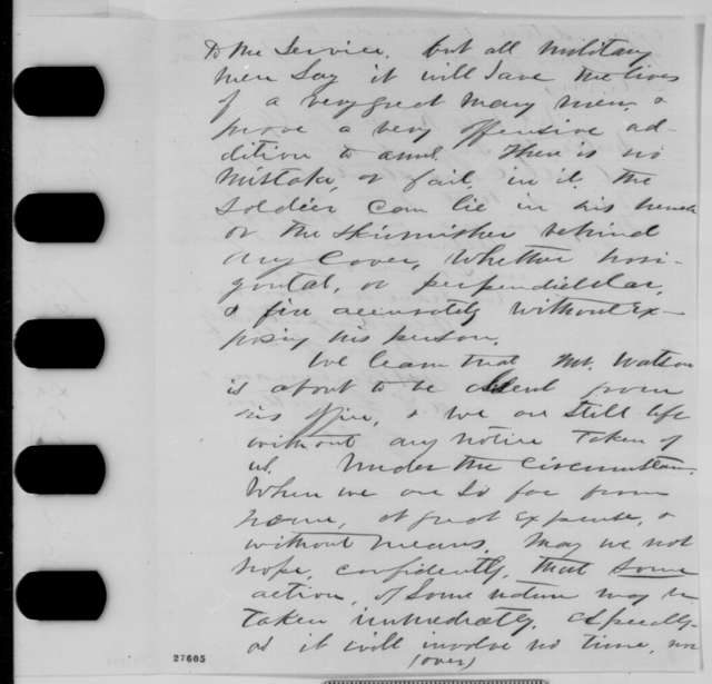 Arthur H. Boreman and A. S. Garretson to Abraham Lincoln, Saturday, October 31, 1863  (Military invention)
