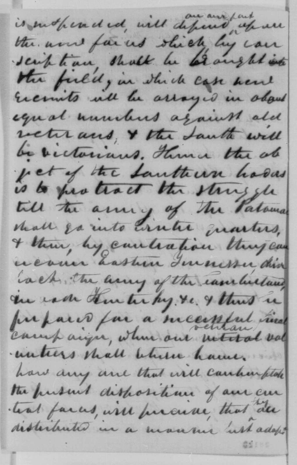 Asa Mahan to Salmon P. Chase, Thursday, November 19, 1863  (Military affairs)
