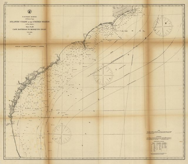 Atlantic coast of the United States (in four sheets) : sheet no. III, Cape Hatteras to Mosquito Inlet.