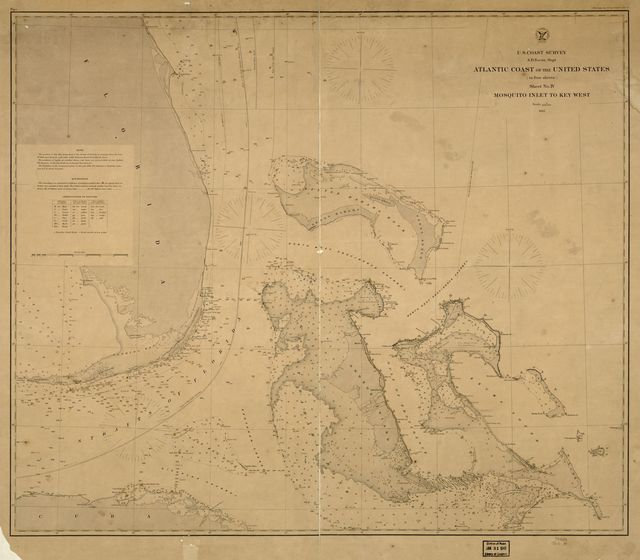 Atlantic coast of the United States (in four sheets) : sheet no. IV, Mosquito Inlet to Key West.