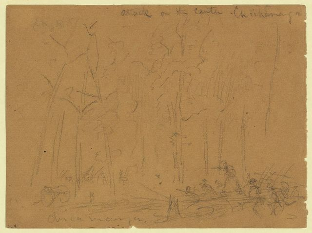 Attack on the center. Chickamauga