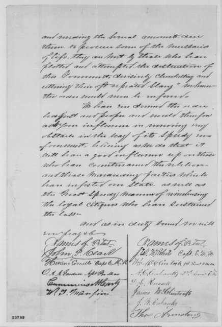 Audrain County Missouri, Citizens to John B. Henderson,  1863  (Petition concerning affairs in Missouri)
