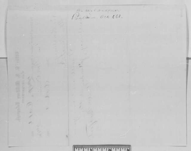 Augustus W. Bradford to Abraham Lincoln, Thursday, October 01, 1863  (Telegram concerning a meeting with Lincoln)