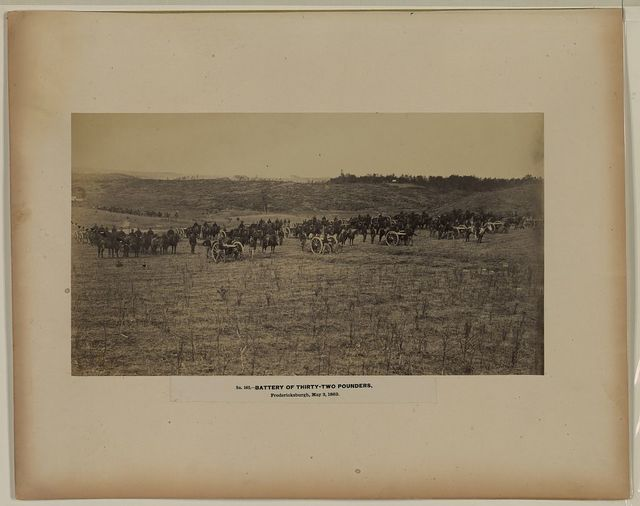 Battery of thirty-two pounders, Fredericksburgh, May 3, 1863