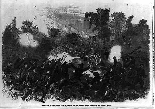 Battle of Baker's Creek, May 16 - defeat of the rebels under Pemberton, by General Grant
