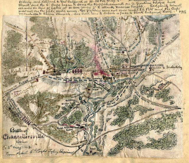 Battle of Chancellorsville Virginia 2nd & 3rd May 1863.