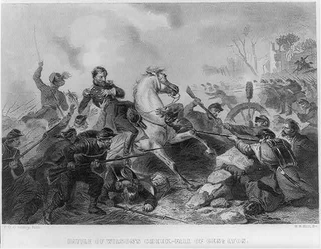 Battle of Wilson's Creek - fall of Genl. Lyon