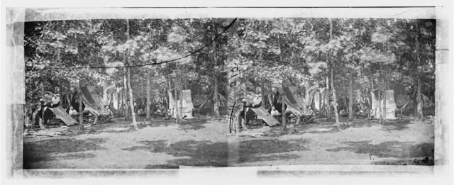 Bealeton, Virginia. Camp of Company B, 93d New York Volunteers