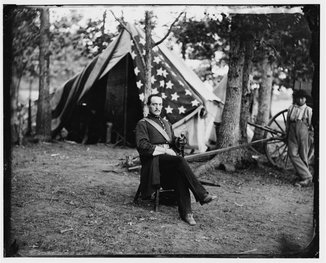 Bealeton, Virginia. Capt. Cunningham of Gen. T.F. Meagher's staff