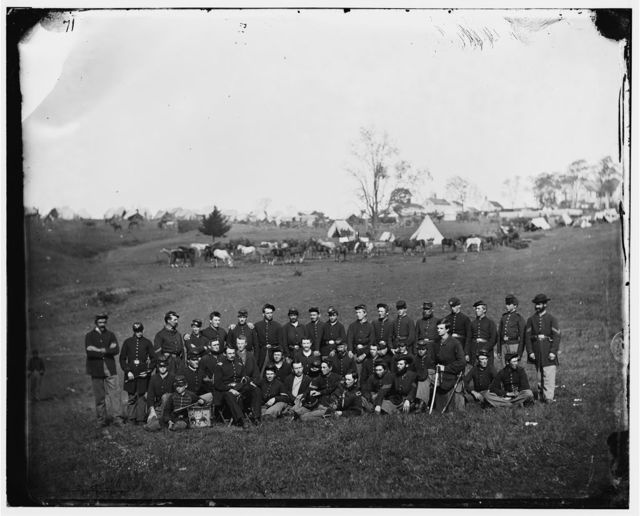 Bealeton, Virginia. Company G, 93d New York Infantry