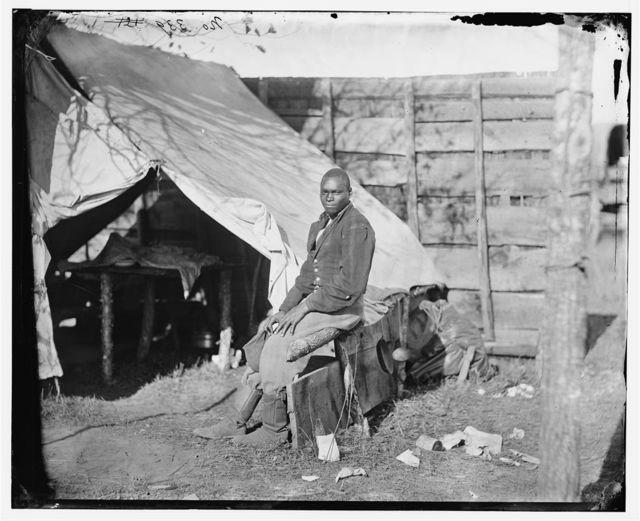 [Bealeton, Virginia?]. John Henry, servant, at headquarters, 3d Army Corps, Army of the Potomac