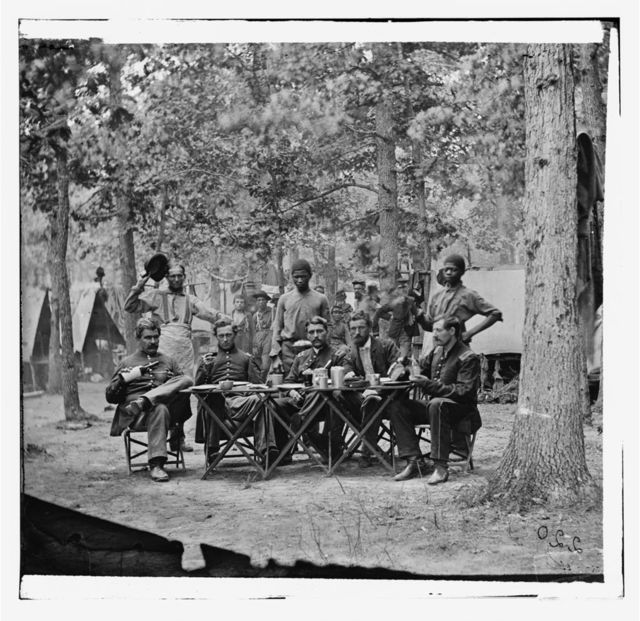 Bealeton, Virginia. Officer's mess. Company F, 93d New York Volunteers Headquarters, Army of the Potomac