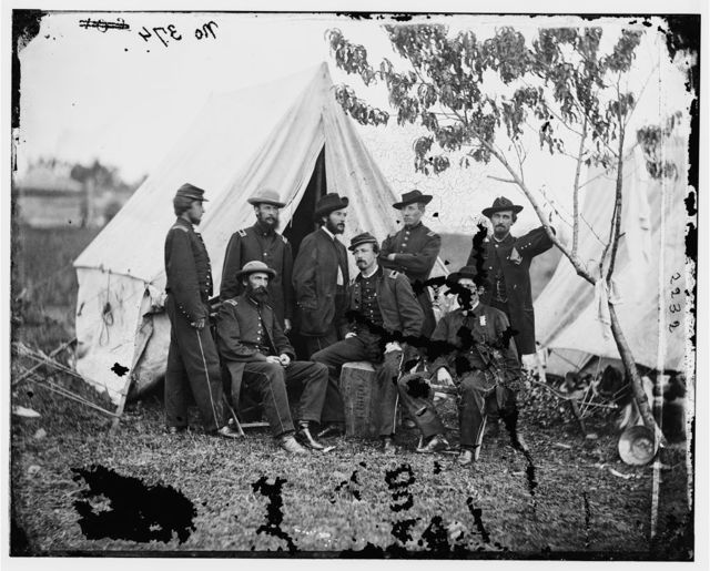 Bealeton, Virginia. Officers of Signal Corps. Headquarters, Army of the Potomac
