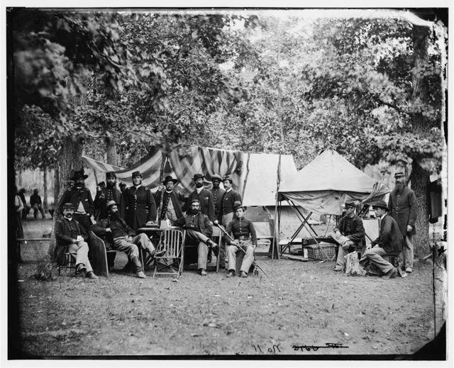 Bealeton, Virginia. Regimental staff 93d New York Infantry. (Morgan Rifles)